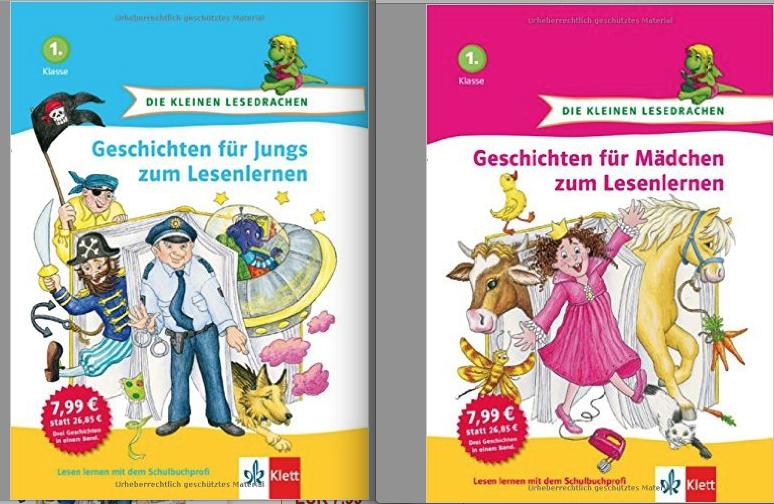 Geschichten für Jungs / für Mädchen zum Lesenlernen