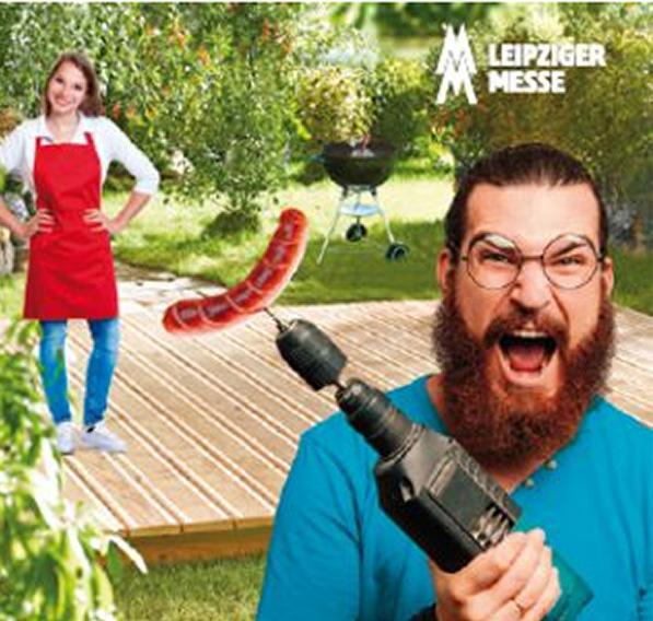 Wurstbohrer-Werbeplakat der Leipziger Messe