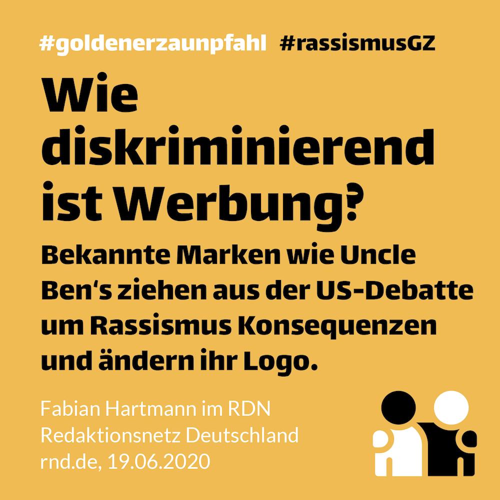 Hinweis auf Artikel zu diskriminierender Werbung von Fabian Hartmann