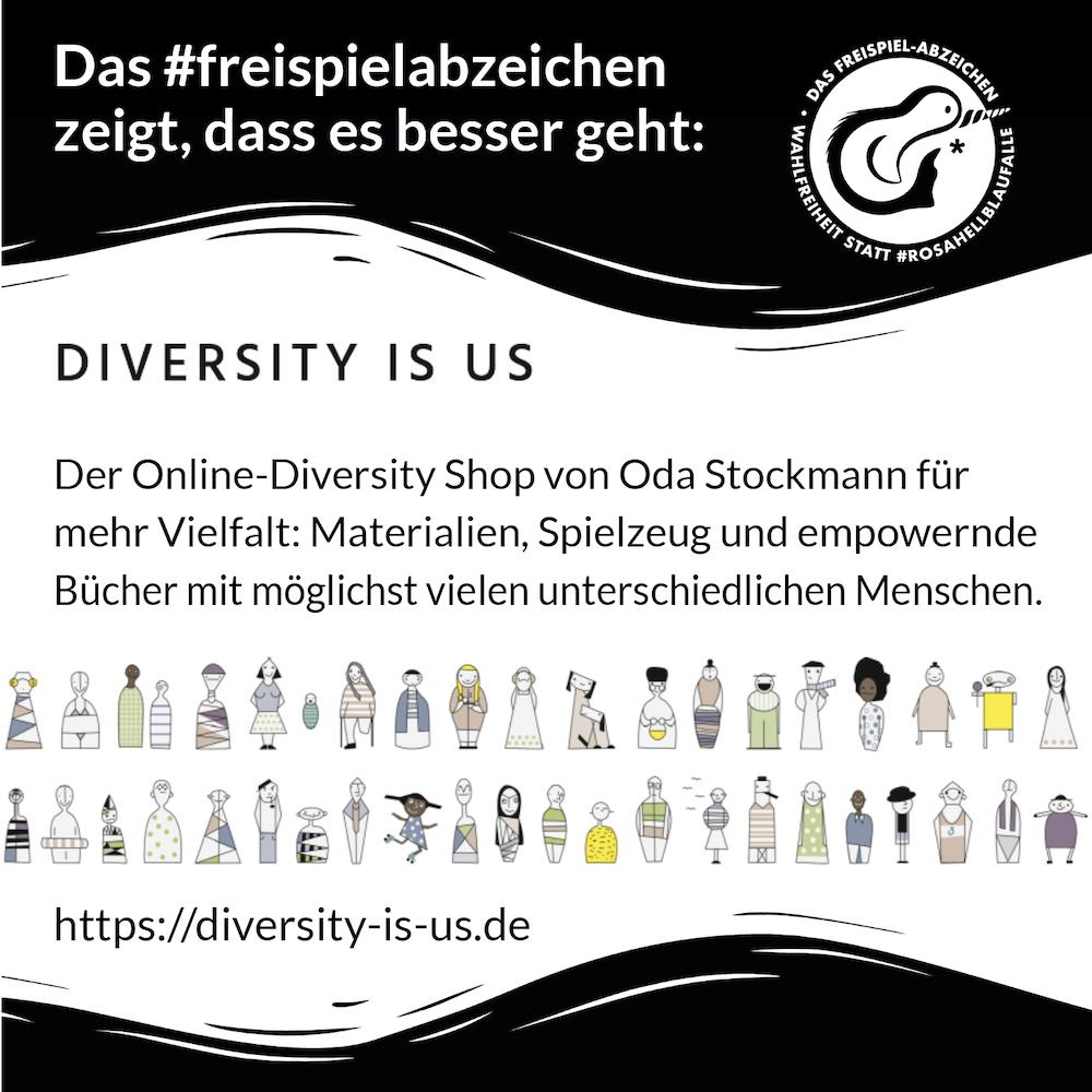 Freispiel-Abzeichen Einreichung: Onlineshop Diversity-is-us.de