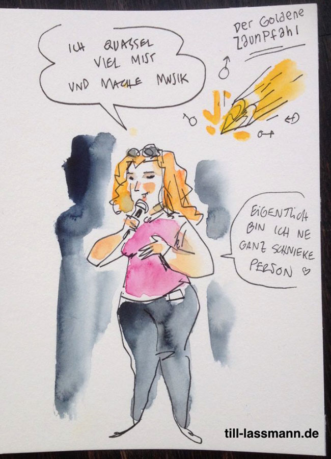 Lia Sahin (gezeichnet von Till Lassmann)