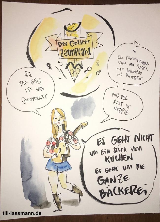 Dota Kehr (gezeichnet von Till Lassmann)