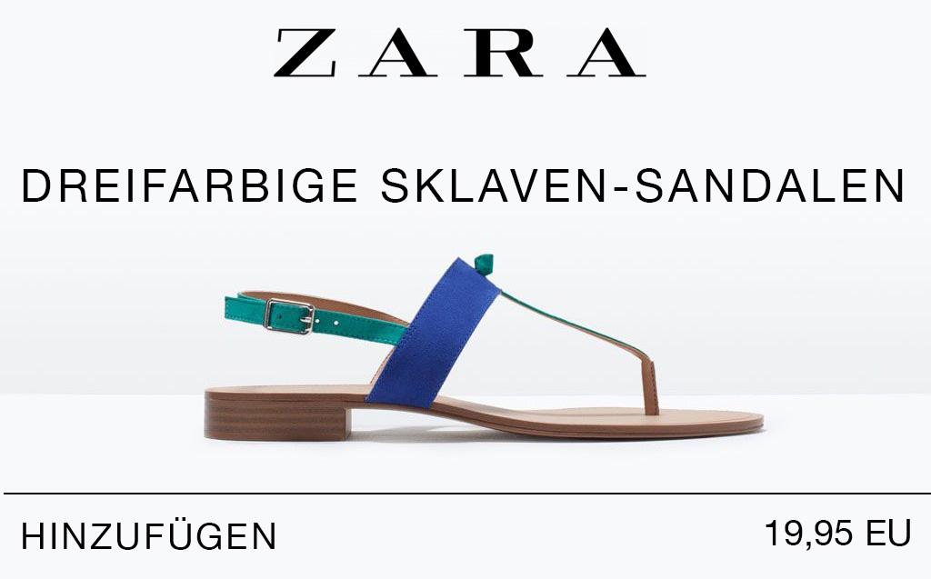 """Rassistische Werbung für """"Sklaven""""-Sandalen von Zara"""