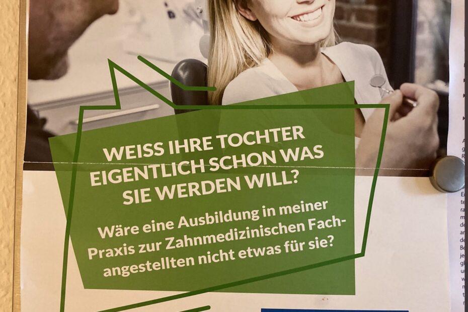 Werbeanzeige zur Ausbildung von ZMAs