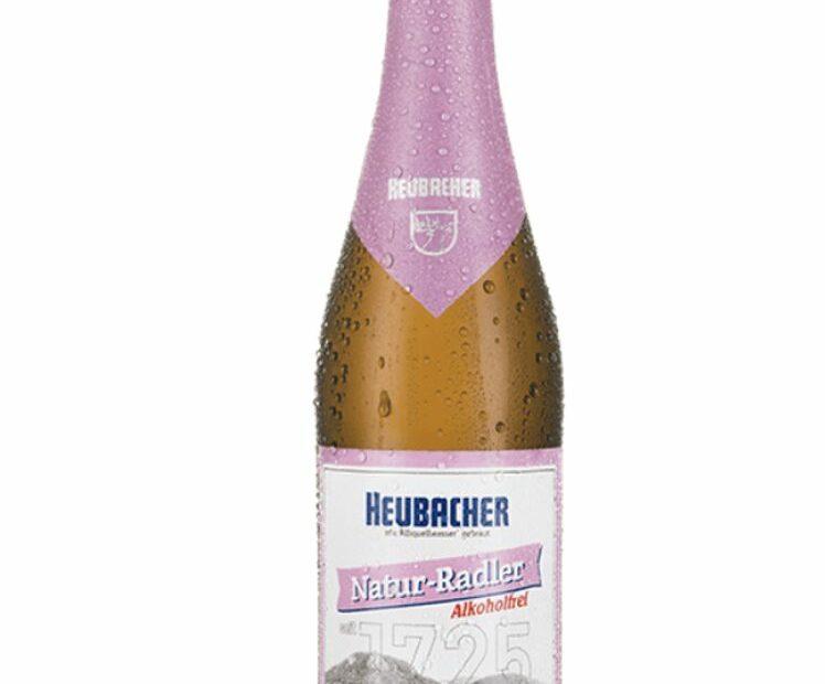 rosa etikettiertes Bier