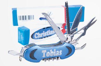 """Taschenmesser mit Aufdruck """"Tobias"""" und """"Christian"""""""