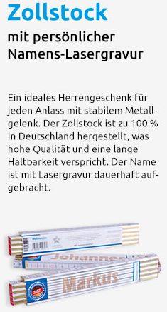 """Werbetext für Zollstock als """"ideales Männergeschenk"""""""