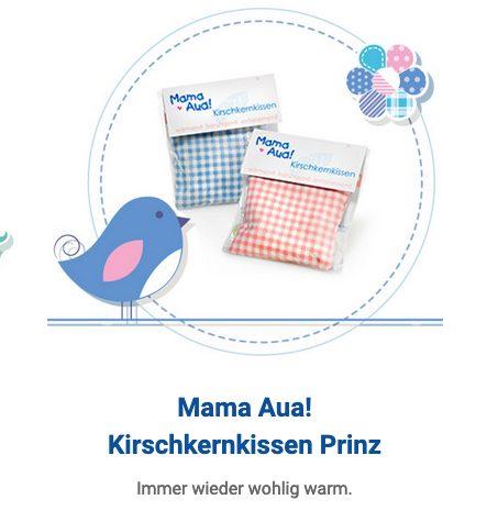 Kirschkernkissen in rosa und blau der Marke Mama Aua!