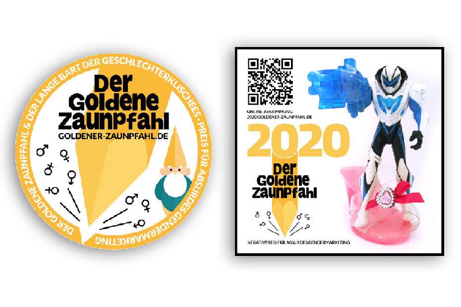 Goldener-Zaunpfahl-Orden und Zaunpfahl-2020-Sticker