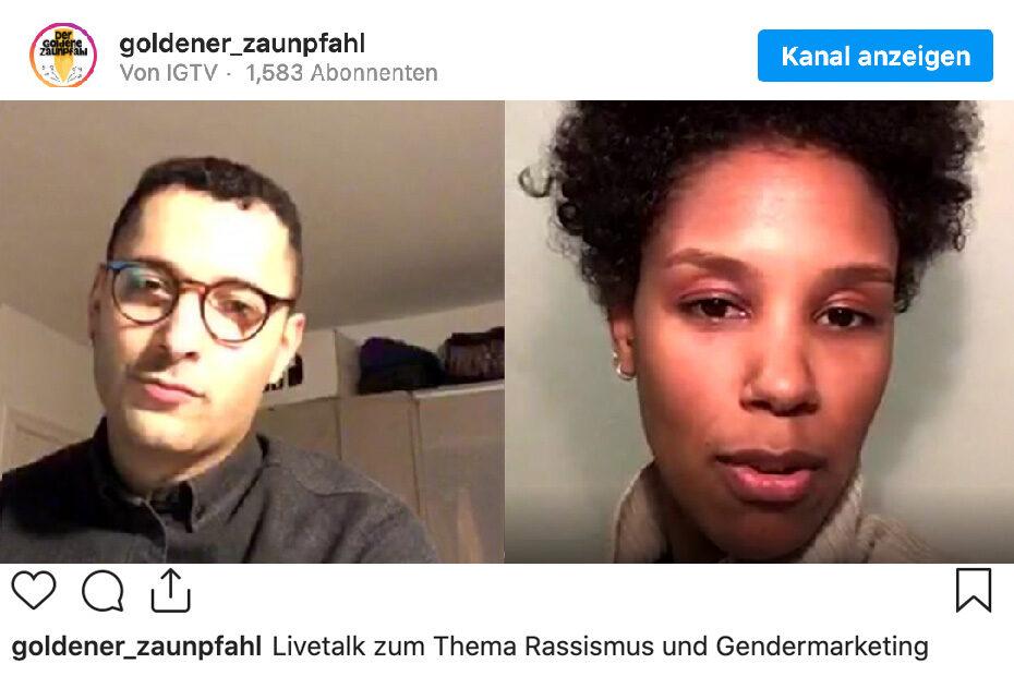 Insta-Livetalk zum Thema Rassismus